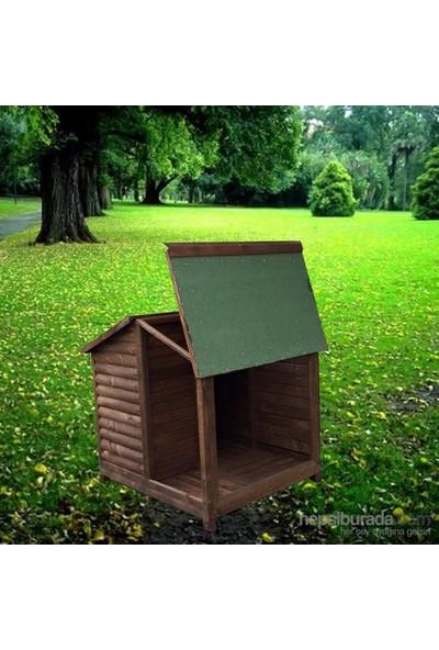 Garden Çatısı Açılır Verandalı Kulübe Koyu Kahverengi