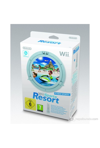 Wii sport resort +Wii Kumanda ( Resort oyunu + motion plus entegre edilmiş yeni kumanda )