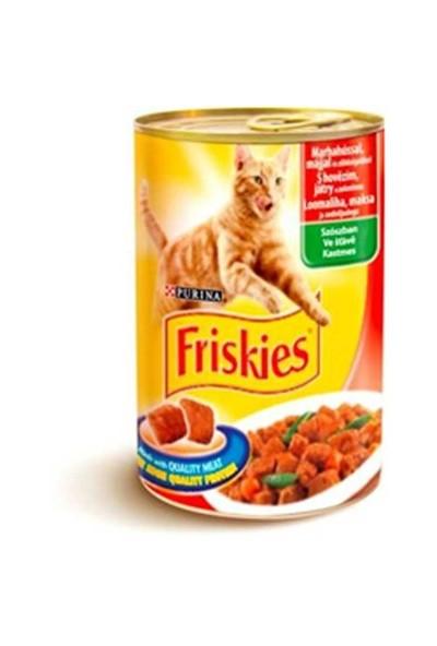 Friskies Yetişkin Kediler İçin Sığır Etli, Ciğerli Ve Sebzeli 400Gr.