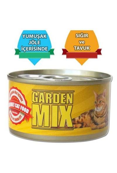 Gardenmix Jöle İçinde Sığır Ve Tavuk Etli Kedi Maması 85 Gr