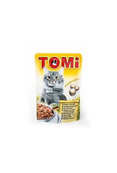 Tomi Tavşanlı Ve Kanatlı Yetişkin Pouch Kedi Konservesi 100 Gr