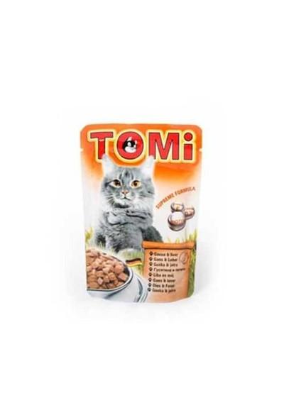 Tomi Kazlı Ve Ciğerli Yetişkin Pouch Kedi Konservesi 100 Gr