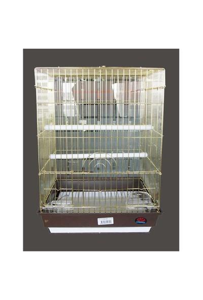 Dayang Orta Boy Papağan Kafesi Gold 40X40x55 Cm