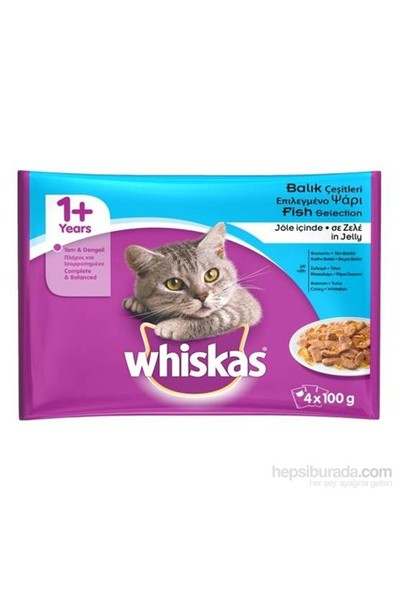 Whiskas kedi yaş pouch Multipack Balık 100 Gr 4 Al 3 Öde