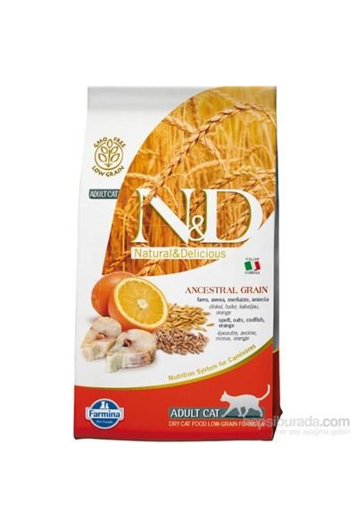 Farmina N&D Düşük Tahıllı Morina Balığı & Portakallı Yetişkin Kedi Maması 1,5 Kg