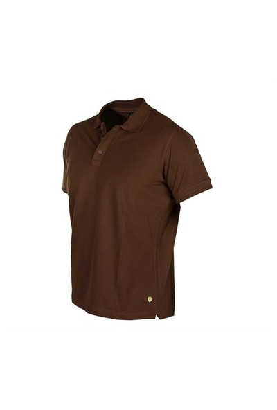 Cosywolf Kahverengi Polo Yaka Tshirt