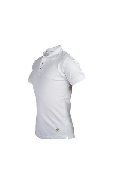 Cosywolf Beyaz Polo Yaka Tshirt