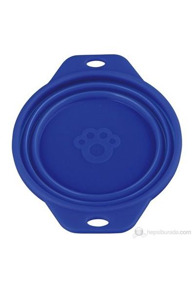Trixie Köpek Mama Ve Su Kabı Silikon 0.5 l/ø 14 cm Mavi