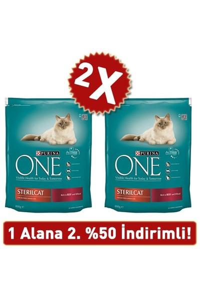 Purina One Kısırlaştırılmış Sığır Etli Kuru Kedi Maması 2 Adet 2 X 800 Gr