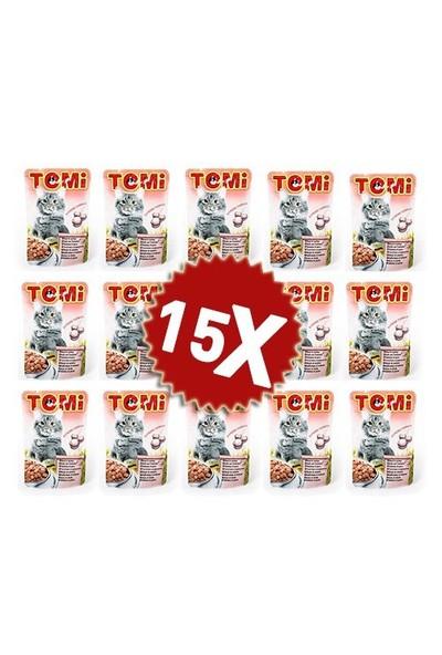 Tomi Danalı Ve Hindili Yetişkin Kedi Konservesi Pouch 15 X 100 gr