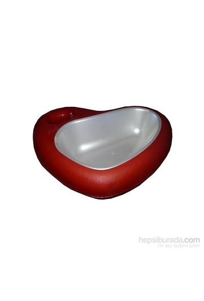 Mio Kedi Ve Köpekler İçin Kalp Şeklinde Mama Kabı 29 X 22 X 6.5Cm Kırmızı