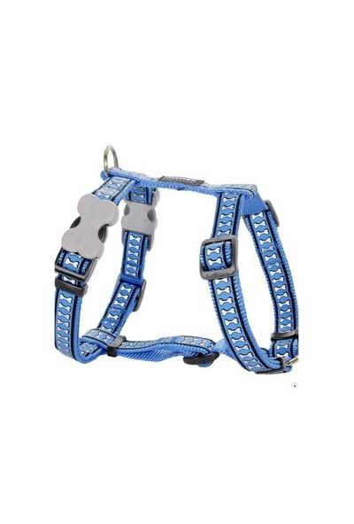 Reddingo Fosforlu Kemik Desenli Mavi Köpek Göğüs Tasması 20 Mm