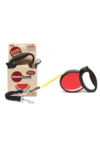 Smart Leash L Kırmızı Otomatik Köpek Tasması