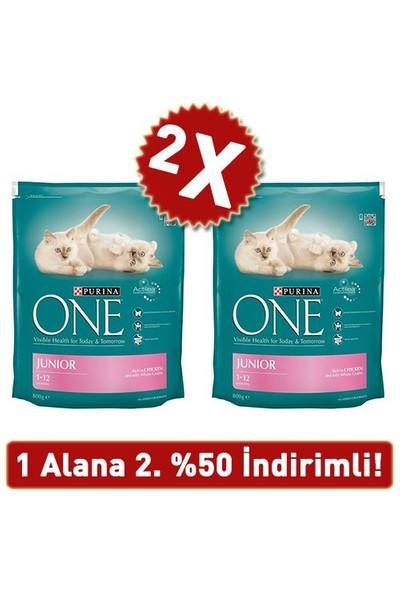 Purina One Tavuklu Yavru Kedi Maması 2 Adet 2X800 Gr