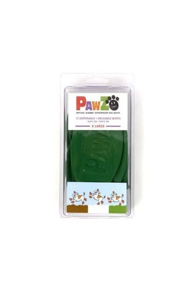 Pawz Köpek Galoşu X Large ( Green ) 12'Li