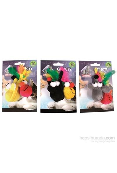 Karlie-Flamingo 2Lı Kedi Oyuncağı Tüylü Fare