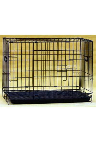 Maxipet İthal Köpek Kafesi Siyah 60X42x50 cm
