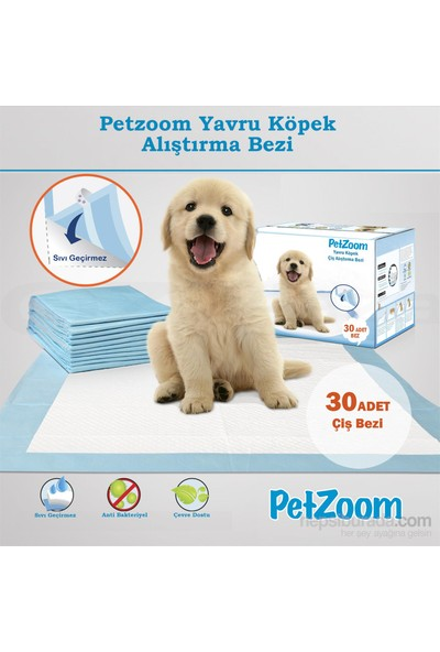 Petzoom Yavru Köpek Çiş Eğitim Pedi 30 adet