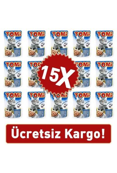 Tomi Somonlu Ve Alabalıklı Yetişkin Kedi Konservesi Pouch 15 Adet 15 X 100 Gr