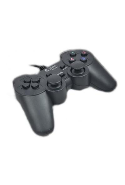 Cyber AN-20001 USB/PC/PS3 1.8M Kablolu Gamepad Titreşimli Joystick