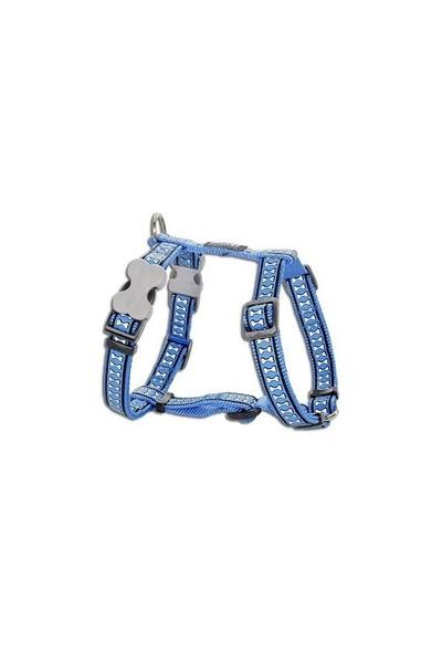 Reddingo Fosforlu Kemik Desenli Mavi Köpek Göğüs Tasması 25 Mm
