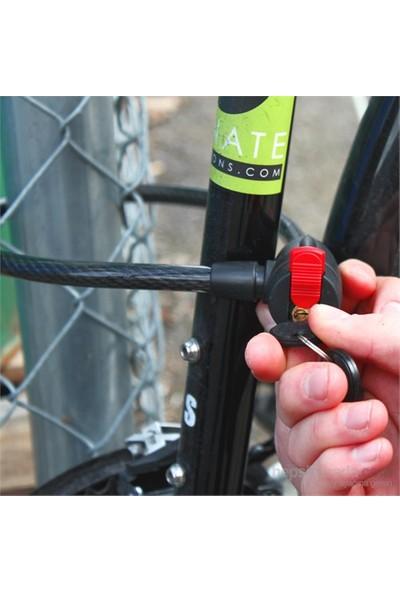 Meenler 65 Cm Anahtarlı Çelik Bisiklet Kilidi