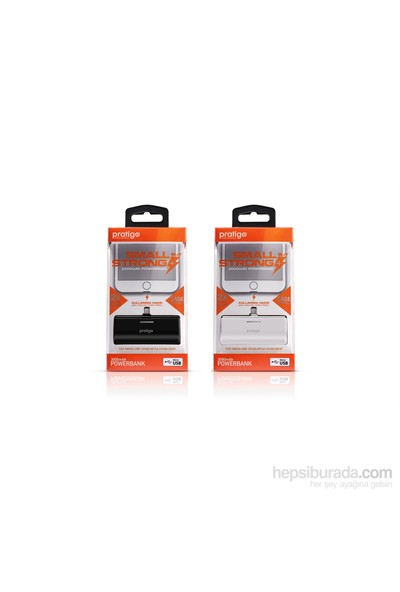 Pratigo PowerBank - Dahili Micro USB Bağlantılı - Beyaz - PR0018-B