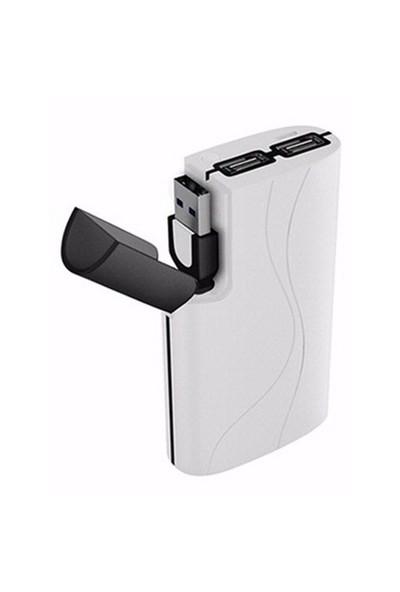Mili Power Passion II - 7800 mAh Beyaz Taşınabilir Şarj Cihazı - (3 USB Çıkışlı)