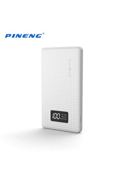 Pineng PN-960 6000 mAh Led Dijital Göstergeli Yüksek Hızlı Powerbank - Beyaz