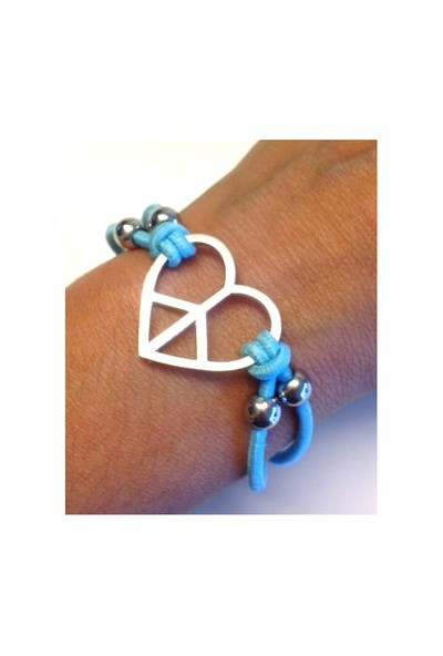 Betico Fashion Mavi Barış Aşkı Bilekliği