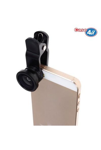 Case 4u Selfie Telefon Kamera Lensi (iPhone, Samsung, Nokia, Sony, Huawei, General Mobile, Asus, HTC, LG)