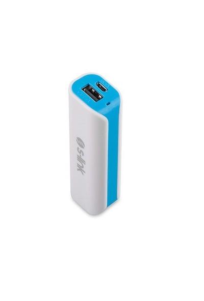 S-Link Cyy-630 2000Mah Pilli Şarj Cihazı Beyaz/Mavi Taşınabilir Pil Şarj Cihazı