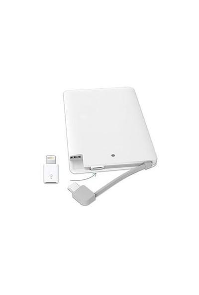 S-Link Ip-K041 2500Mah Beyaz Taşınabilir Slim Pil Şarj Cihazı