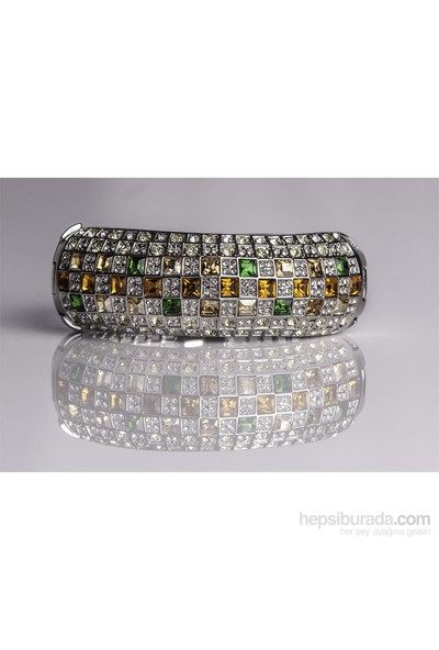 Betico Fashion Gümüş Ella Kelepçe Bileklik