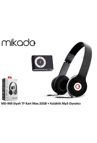Mikado Md-909 Siyah Kulaklık Mp3 Oynatıcı