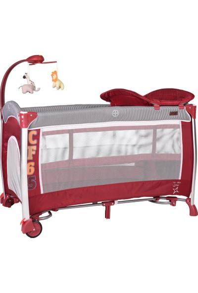 Prego Milano Dönenceli Oyun Parkı 70x110 cm - Kırmızı