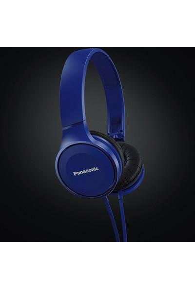 Panasonic RP-HF100ME-A Mavi Kablolu Kulak Üstü Mikrofonlu Katlanabilir Stereo Kulaklık
