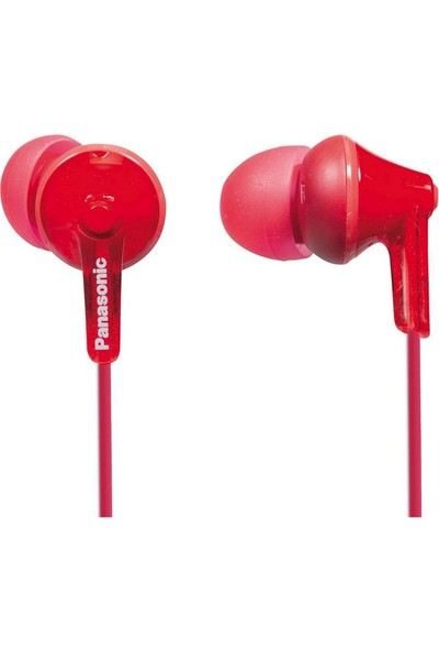 Panasonic RP-HJE125E-R Ergo Fit Kırmızı Kablolu Kulak İçi Kulaklık