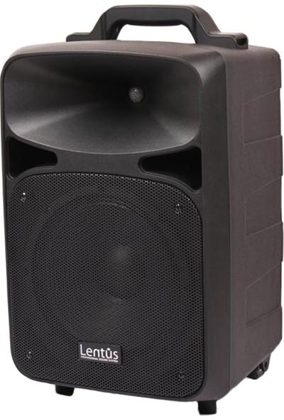 """Lentus LNT-P-100 10"""" 120 Watt Kablosuz Çift El Mikrofonlu Taşınabilir Şarjlı Ses Sistemi"""