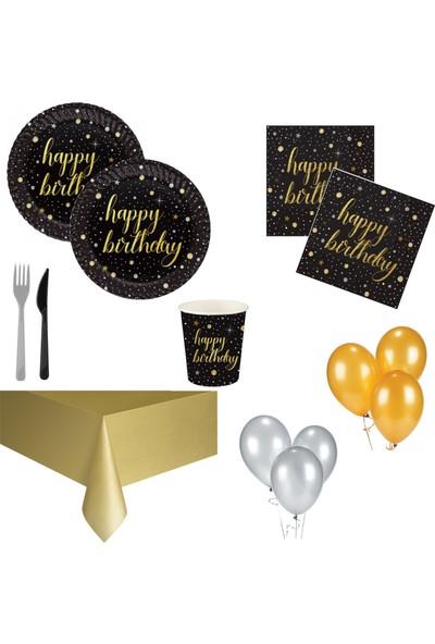 Roll Up Party Var Işıltılı Doğum Günü Parti Seti 16 Kişilik