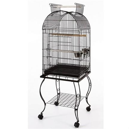 Sehpalı Papağan Kafesi Dövme Demir 51x51x152 Fiyatı