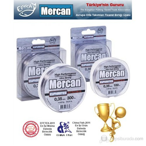 Mercan Euphrates Ultra Soft Fluoracarbon Coated Beyaz Misina - 500Mt Makara