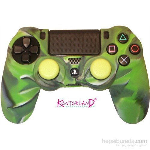 Kontorland Gamepad Silikon Kılıf PS4 (Yeşil)
