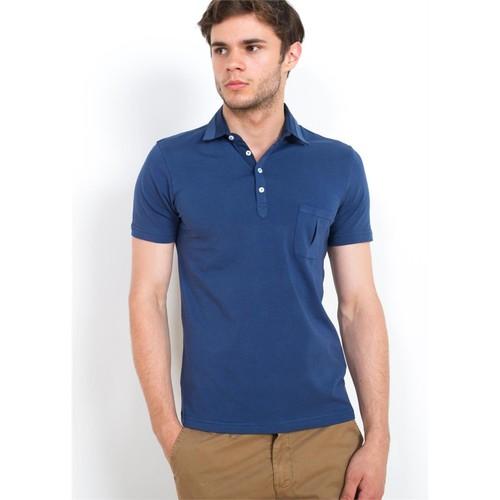 Adze İndigo Erkek Polo Yaka T-Shirt