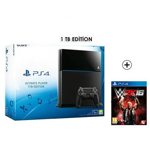 Sony Playstation 4 Ultimate 1Tb Oyun Konsolu + W2k16 Ps4 Oyun