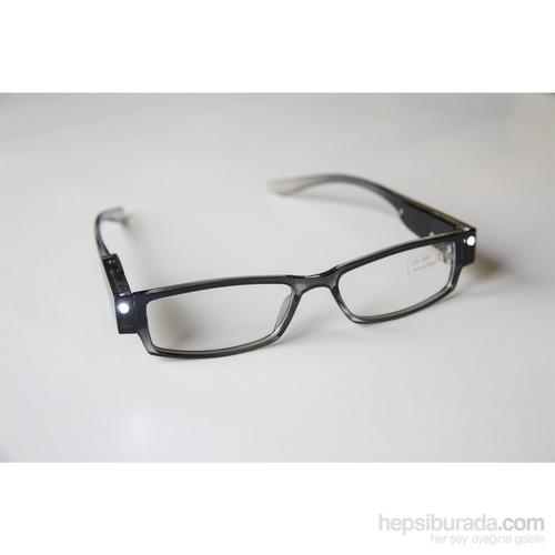 Patka Işıklı Okuma Gözlüğü Siyah - Numarasız