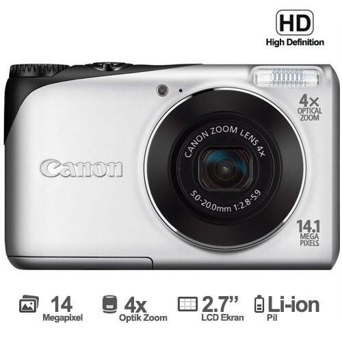 """Canon DSC Powershot A2200 14.1 MP 2.7"""" LCD HD Video Dijital Fotoğraf Makinesi"""