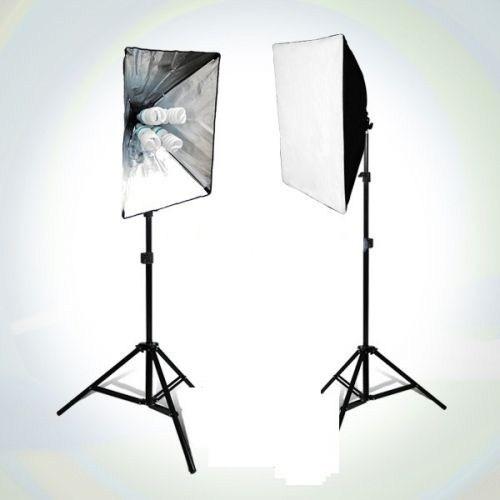 Fancier Fan 639 65W Spiral 2X4 Set Sürekli Video Işık 40X60 Softbox