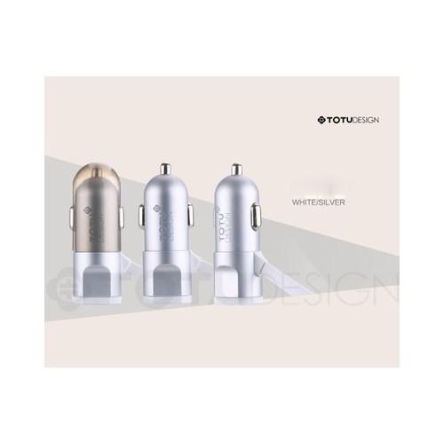 Totu Design BreakNeck USB Araç Çakmaklık Şarj Cihazı & 2li Micro USB ve 8Pin lightning Kablo Silver (TT-D-CHGR-ST-SLVR)