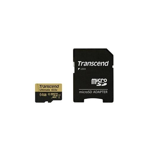 Transcend 64GB UHS-I U3 Micro SDXC 633X Hafıza Kartı